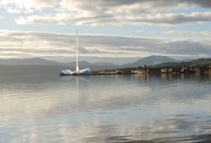 Artists impression of Helensburgh Spaceport rocket launch