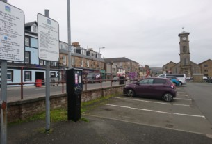 A traditional parking meter in Helensburgh's pier car park