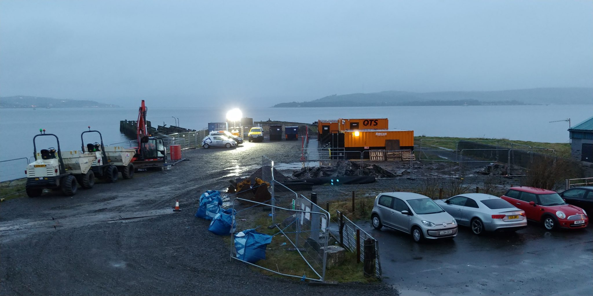 Construction works at Craigendoran Pier