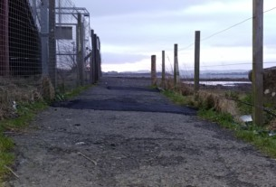The pavement by the station entrance at Craigendoran