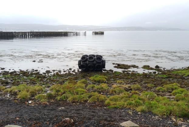 Mysterious buoy by Craigendoran Pier